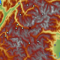 Nearby Forecast Locations - Modane - Harita