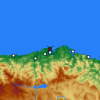 Nearby Forecast Locations - Santander - Harita