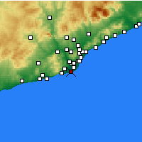 Nearby Forecast Locations - El Prat de Llobregat - Harita