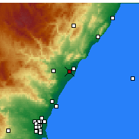 Nearby Forecast Locations - Castellón de la Plana - Harita