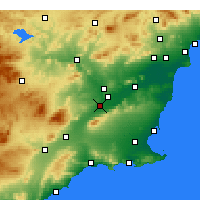 Nearby Forecast Locations - Alcantarilla - Harita