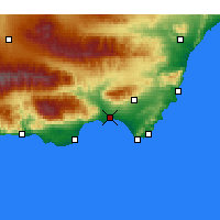 Nearby Forecast Locations - Almería - Harita