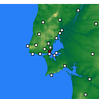 Nearby Forecast Locations - Lizbon/Geof - Harita