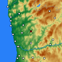Nearby Forecast Locations - Guimarães - Harita