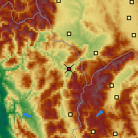 Nearby Forecast Locations - Kukës - Harita