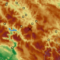 Nearby Forecast Locations - Bjelašnica Dağı - Harita