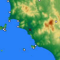 Nearby Forecast Locations - Grosseto - Harita