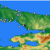 Nearby Forecast Locations - Istanbul / Sabiha Gokcen - Harita
