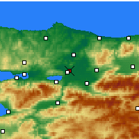 Nearby Forecast Locations - Adapazarı - Harita