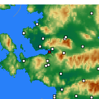 Nearby Forecast Locations - Güzelbahçe - Harita