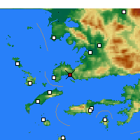 Nearby Forecast Locations - Bodrum - Harita