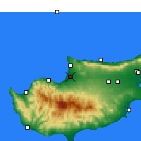 Nearby Forecast Locations - Güzelyurt - Harita