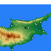 Nearby Forecast Locations - Lefkoşa - Harita