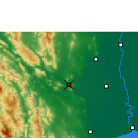 Nearby Forecast Locations - Kanchanaburi - Harita