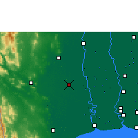 Nearby Forecast Locations - Nakhon Pathom - Harita