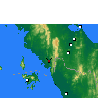 Nearby Forecast Locations - Satun - Harita