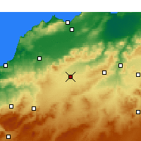 Nearby Forecast Locations - Sidi Bel Abbès - Harita