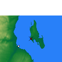Nearby Forecast Locations - Zanzibar - Harita