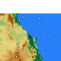 Nearby Forecast Locations - Cairns - Harita