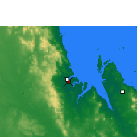 Nearby Forecast Locations - St Lawrence - Harita