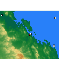 Nearby Forecast Locations - Gladstone Airport - Harita