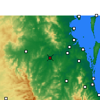 Nearby Forecast Locations - Amberley - Harita
