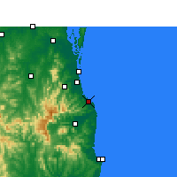 Nearby Forecast Locations - Coolangatta - Harita