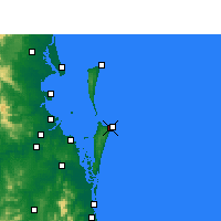 Nearby Forecast Locations - Southport - Harita