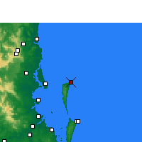 Nearby Forecast Locations - Cape Moreton - Harita