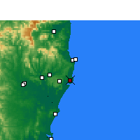 Nearby Forecast Locations - Ballina - Harita