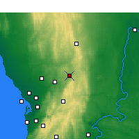 Nearby Forecast Locations - Nuriootpa - Harita
