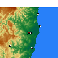 Nearby Forecast Locations - Kempsey Airport - Harita