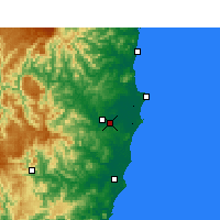 Nearby Forecast Locations - Kempsey - Harita