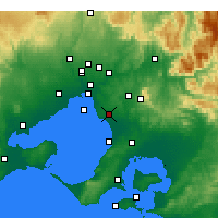 Nearby Forecast Locations - Moorabbin - Harita