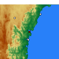 Nearby Forecast Locations - Batemans Bay - Harita