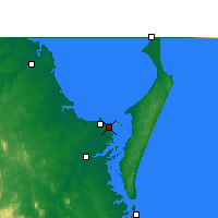 Nearby Forecast Locations - Hervey Bay Hava Alanı - Harita