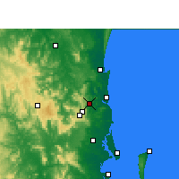 Nearby Forecast Locations - Nambour - Harita