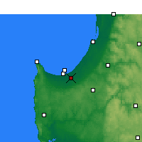 Nearby Forecast Locations - Busselton - Harita