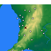 Nearby Forecast Locations - Mount Lofty - Harita
