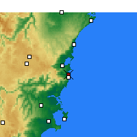 Nearby Forecast Locations - Kiama - Harita