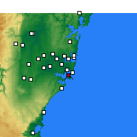 Nearby Forecast Locations - Kurnell - Harita
