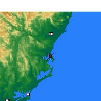 Nearby Forecast Locations - Forster - Harita