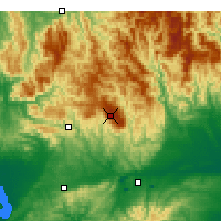 Nearby Forecast Locations - Mount Baw Baw - Harita