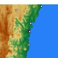 Nearby Forecast Locations - Moruya Airport - Harita