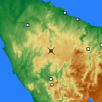 Nearby Forecast Locations - Waratah - Harita