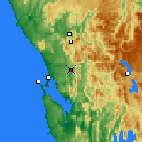 Nearby Forecast Locations - Queenstown - Harita