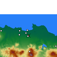 Nearby Forecast Locations - Cakarta - Harita