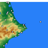 Nearby Forecast Locations - El Verger - Harita
