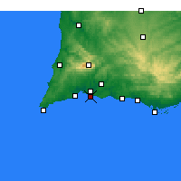 Nearby Forecast Locations - Praia da Rocha - Harita