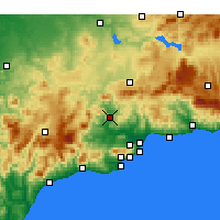 Nearby Forecast Locations - Álora - Harita